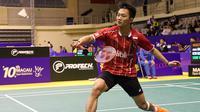 Tunggal putra Indonesia Ihsan Maulana Mustofa lolos ke perempat final Macau Open Grand Prix Gold 2015, Kamis (26/11/2015). (Liputan6.com/Humas PP PBSI)