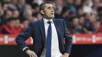 3. Ernesto Valverde - Pelatih Barcelona. (AFP/Lluis Gene)