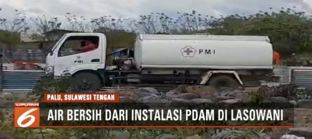Setiap harinya kini PMI menyalurkan sekitar 100 hingga 150 ribu liter air bersih ke posko-posko pengungsian.