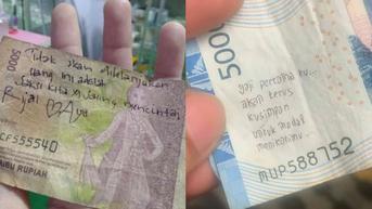 6 Coretan Pesan Romantis di Uang Kertas, Bikin Senyum-Senyum Sendiri