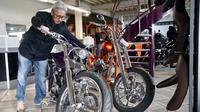 Rombongan Suryanation Motorland yang terdiri dari builder Tanah Air berkesempatan berkunjung ke Fred Kodlin Motorcycles yang berbasis di kawasan Hessen, Jerman. (ist)