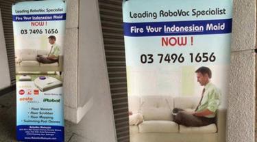 KBRI Kuala Lumpur melalui retainer lawyer Shamsuddin & Co telah menyampaikan somasi kepada perusahaan pembuat alat pembersih RoboVac, yang memasang iklan bertuliskan 'Fire Your Indonesian Maid Now!' (Pecat Pembantu Indonesia Anda Sekarang).