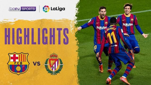Berita video highlights Liga Spanyol 2020/2021, antara Barcelona melawan Real Valladolid yang berakhir dengan skor 1-0, di mana pencetak gol penentu adalah Ousmane Dembele, Selasa (6/4/2021) dinihari WIB.