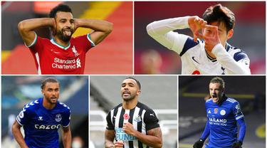 Berikut daftar top skor sementara Liga Inggris musim 2020/2021. Son Heung-Min dan Dominic Calvert-Lewin Bersaing Ketat dengan koleksi 8 gol. Sementara itu, striker kawakan Jamie Vardy kembali menunjukan ketajaman dengan mengemas tujuh gol.