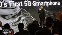 Oppo ungkap smartphone 5G pertamanya. (Liputan6.com/ Sulung Lahitani)