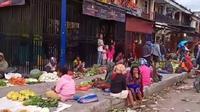 Aktivitas Pasar Sinakma Wamena kembali normal. (Liputan6.com/Katharina Janur)