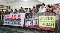 Jemaah Ahmadiyah menggelar doa bersama untuk pemilu damai.(Www.sulawesita.com)
