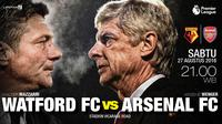 Watford FC vs Arsenal FC (Liputan6.com/Abdillah)