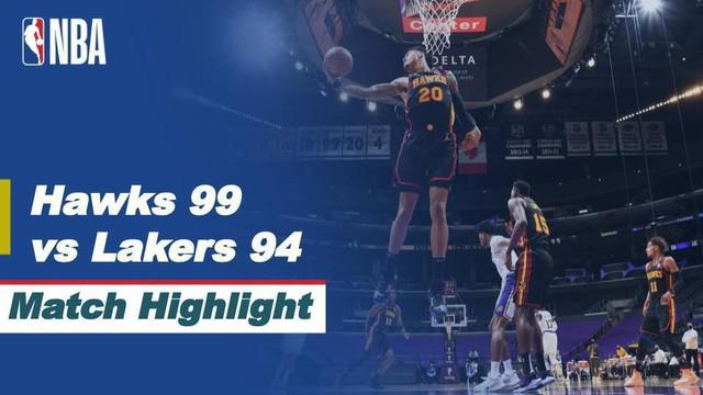 Berita video highlights NBA pertaningan Los Angeles Lakers melawan Atlanta Hawks.