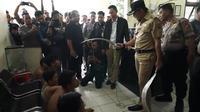 Wali Kota Bogor Bima Arya marah kepada pelajar pelaku tawuran (Liputan6.com/Achmad Sudarno)