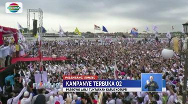 Prabowo Subianto dan Sandiaga Uno menargetkan dapat 70 persen suara di Palembang, Sumatera Selatan.