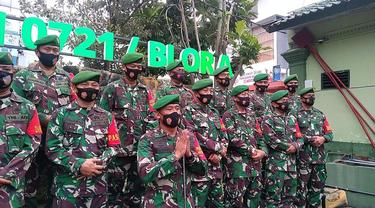 Satuan TNI AD di Blora siap menjalankan intruksi untuk tidak mudik lebaran. (Liputan6.com/Ahmad Adirin)