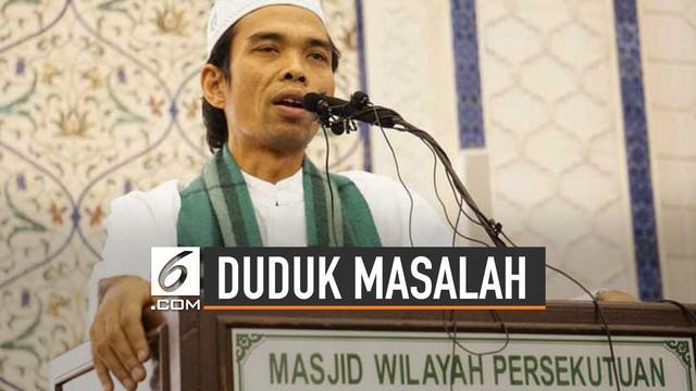 Belakangan viral video Ustaz Abdul Somad (UAS) di media sosial. Video berisi jawaban UAS kepada jamaah tentang salib.
