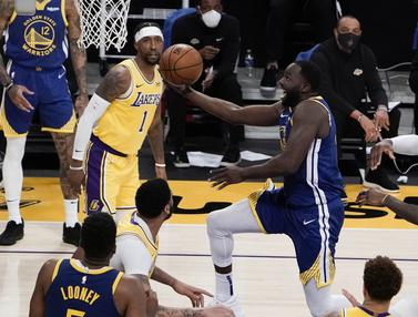 FOTO: Warriors Menang Dramatis atas LA Lakers