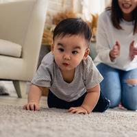 Bayi merangkak./Copyright shutterstock.com/g/JR-50