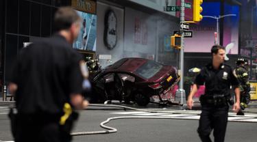 20170518-Mobil Terobos Jalur Pejalan Kaki di New York-AFP
