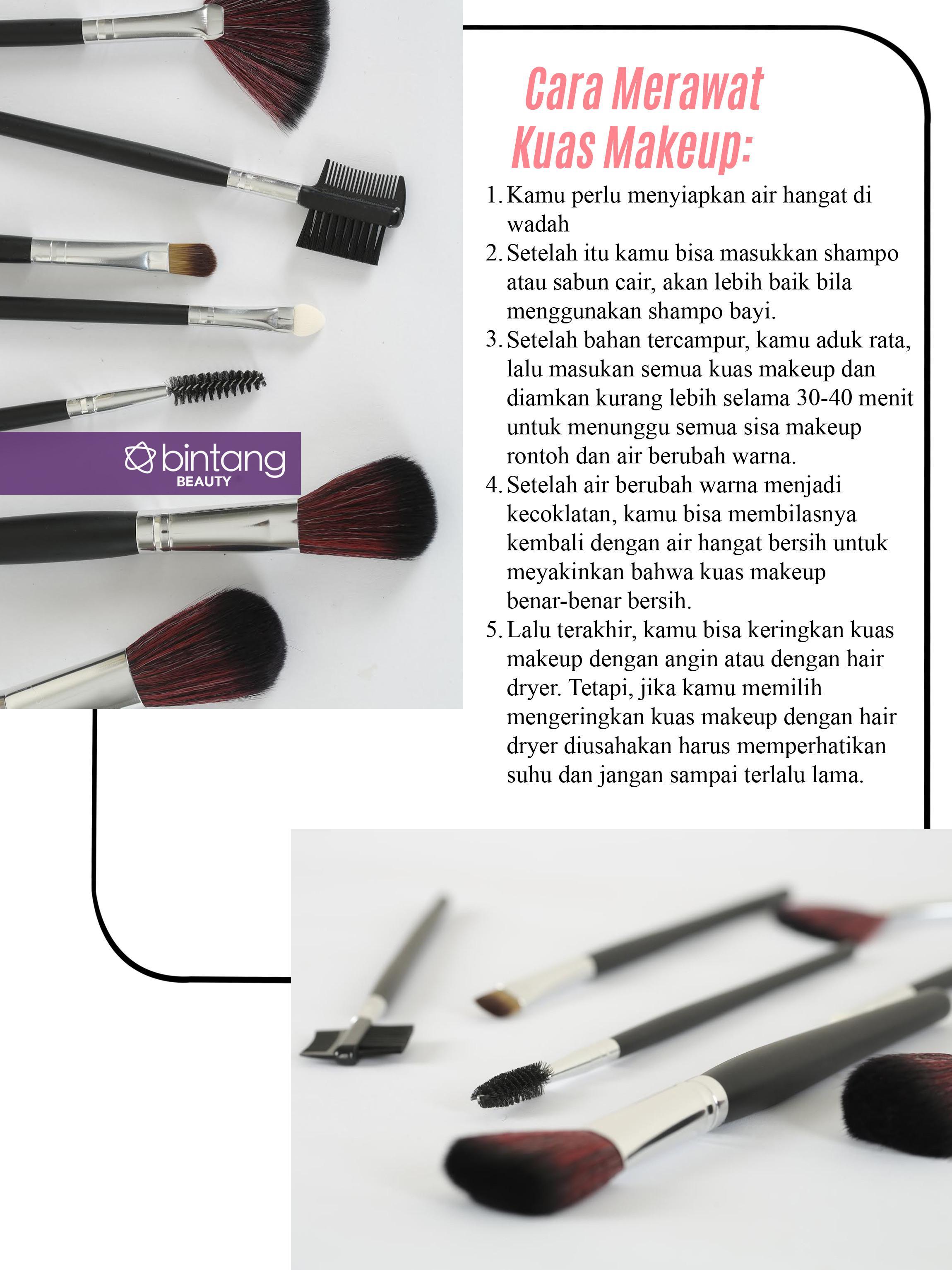 Yang Perlu Kamu Ketahui Tentang Kuas Makeup. (foto: Daniel Kampua/Bintang.com, Digital Imaging: Nurman Abdul Hakim/Bintang.com).