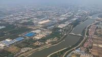 Kota Wuhan di China, seukuran dengan London tetapi jauh lebih besar dari Washington DC. (AFP)