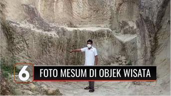 VIDEO: Viral Seorang Pria dan 2 Wanita Foto Mesum di Tempat Wisata Tebing Koja Banten