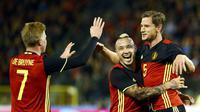 Belgia berhasil mengalahkan Italia dengan skor 3-1 dalam laga persahabatan yang berlangsung di King Baudouin Stadium, Sabtu (14/11/2015).