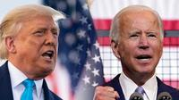 Kandidat calon presiden AS dalam pemilu 2020, Donald Trump dan Joe Biden. (AP Photo)