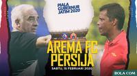 Piala Gubernur Jatim - Arema FC Vs Persija Jakarta - Head to Head Pelatih (Bola.com/Adreanus Titus)
