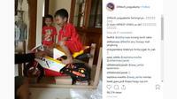 Reaksi kocak unboxing sepeda motor mini (@104tech_yogyakarta/Instagram)