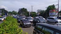 Arus lalu lintas Puncak Bogor pada H+4 Lebaran 2019. (Achmad Sudarno)