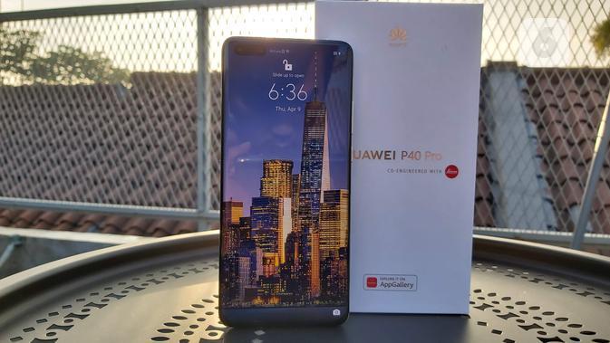 Tampilan depan Huawei P40 Pro. Liputan6.com/Iskandar