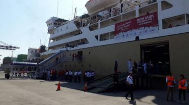 Menhub Budi Karya akan meninjau pelepasan mudik gratis sepeda Mmotor dengan kapal laut, Rabu (21/6/2017).