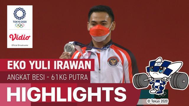 Berita video highlights Eko Yuli Irawan yang bertanding di nomor 61kg Putra cabor angkat besi Olimpiade Tokyo 2020, Minggu (25/7/21).