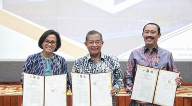 Tiga Kementerian Teken MoU Percepatan Pencairan Pinjaman Pemda oleh PT SMI