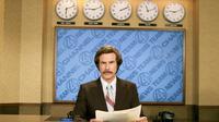 Will Ferrell dalam Anchorman: The Legend of Ron Burgundy (Apatow Productions via IMDb)