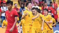 Timnas Indonesia U-16 harus mengakui keunggulan Australia pada perempat final Piala Asia U-16 2018. (AFC)