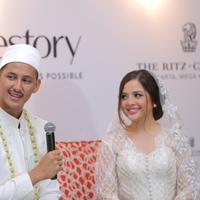 Preskon Pernikahan Tasya Kamila dan Randi Bachtiar (Deki Prayoga/bintang.com)