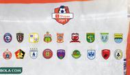 Shopee Liga 1 - Logo Klub (Bola.com/Adreanus Titus)
