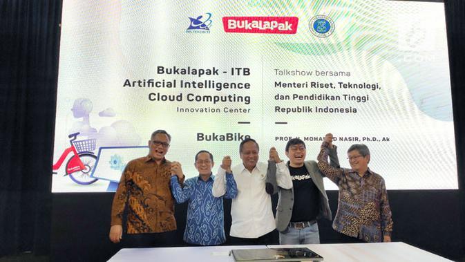 Bukalapak Kolaborasi dengan ITB Buka Pusat Riset AI dan Cloud Computing. Liputan6.com/ Agustinus Mario Damar