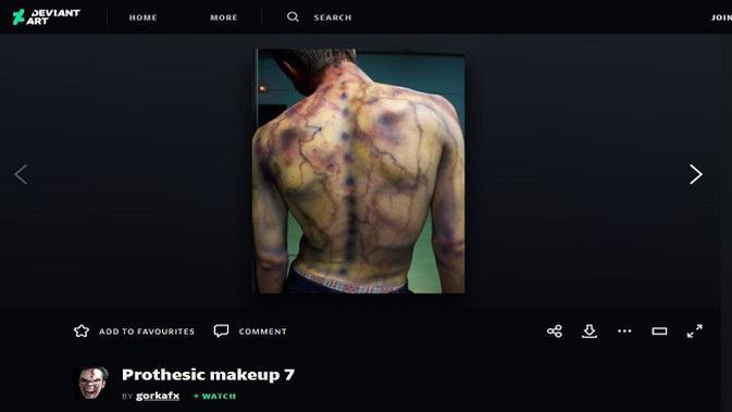 Gambar Tangkapan Layar Foto dari Situs deviantart.com