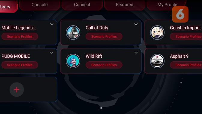 Armoury Crate berfungsi untuk mengatur berbagai fungsi hardware dan fitur di ROG Phone 5. (Liputan6.com/ Yuslianson)