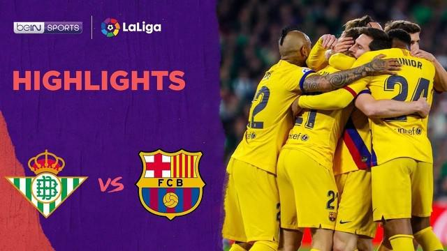 Highlights La Liga, Tiga Assist Lionel Messi Bawa Barcelona Menang Lawan Real Betis 3-2
