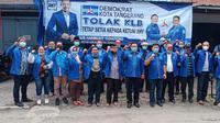Demokrat Kota Tangerang menolak KLB Sumut versi Moeldoko. (Liputan6.com/Pramita Tristiawti)