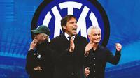 Inter Milan - Giovanni Trapattoni, Antonio Conte, Jose Mourinho (Bola.com/Adreanus Titus)