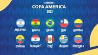 Copa America - Ilustrasi Logo Copa America 2021 (Bola.com/Adreanus Titus)