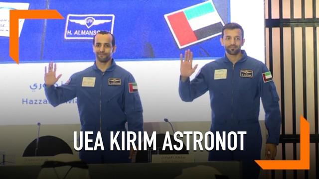 Uni Emirat Arab mengirim astronot pertamanya pada 25 September tahun ini ke luar angkasa. Misi astronot yaitu melakukan penelitian ilmiah.