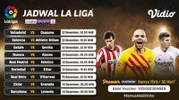 Pertandingan lengkap La Liga Spanyol pekan ke-13 dapat disaksikan melalui platform streaming Vidio. (Dok. Vidio)