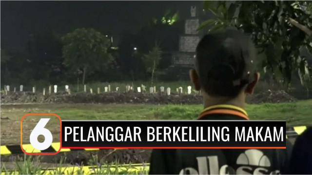 Untuk memberi efek jera kepada pelanggar protokol kesehatan, Pemerintah Kota Surabaya, Jawa Timur, punya cara unik. Para pelanggar diajak berkeliling pemakaman dan menyaksikan langsung prosesi pemakaman pasien Covid-19.