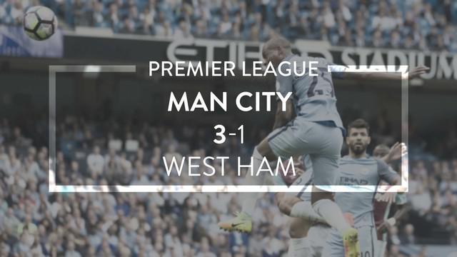 Video highlights Premier League antara Manchester City Vs West Ham yang berakhir dengan skor 3-1, Minggu (28/8/2016) WIB.