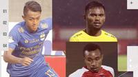 Febri Hariyadi, Saddil Ramdani dan Todd Rivaldo Ferre. (Bola.com/Dody Iryawan)