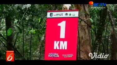 Kabupaten Banyuwangi kembali menggelar lomba lari marathon. Tak sekadar marathon, lomba lari ini dikombinasikan dengan balap sepeda alias duathlon.