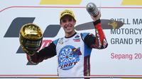 6. Alex Marquez (Repsol Honda) - 876 ribu Follower. (AFP/MOhd Rasfan)